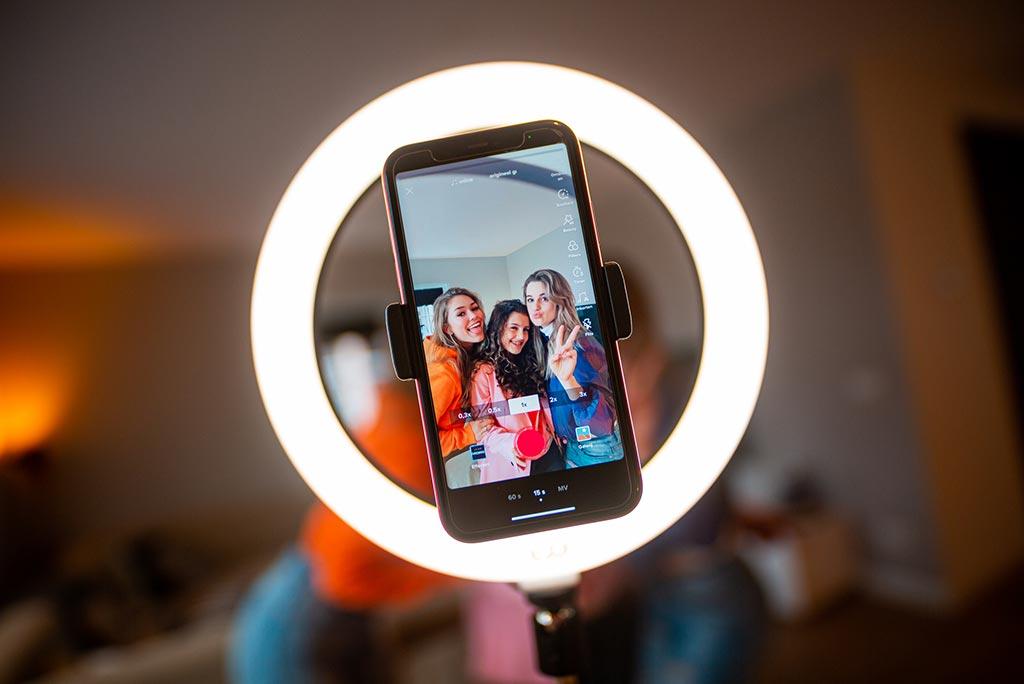 TikTok Lamp Olaf Ringlamp Vlog Licht Youtube Instagram